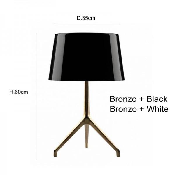 design new Brief moderne dekoration tischlampe stativ schwarz weißes licht schlafzimmer schöne dekorative e27 led-lampe