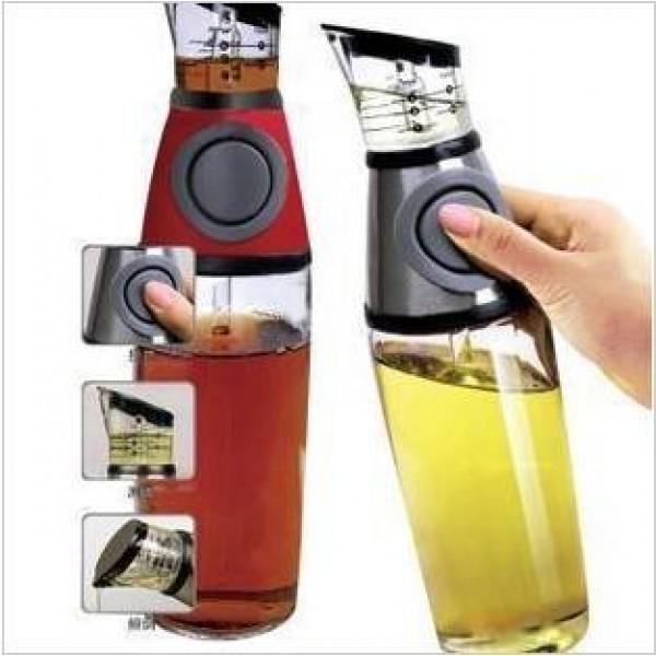 250ML Ölflasche, schieben Sie steuerbaren Öler Cruet Essigsauce Die Küche ist ein guter Helfer