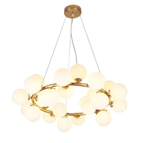 25 Kopf Nordic kreative Kreis führte Kronleuchter Licht Runde Blase Glas Lampenschirm Villa G4 LED Lampe 3W AC220V