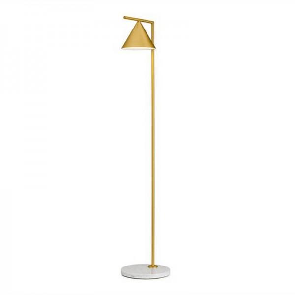 Kapitän Feuerstein Einfache moderne Stehleuchte Kung E27 3W LED Lampe Kreative Stehlampe Gold Schwarz Körperfarbe Lampenschirm