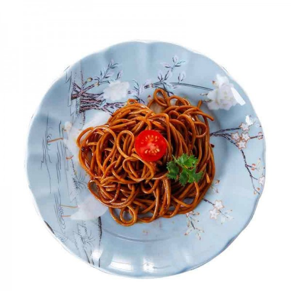 Kran-Muster-keramische feine Knochen-Spitze-Steak-Platte für Haushalts-Geschirr-Hotel-Spaghetti-Omelett-Teller-Nachtisch-Untertassen-Geschenk