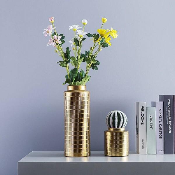 Kreative Europäische Vase Überzug Metall Farbe Keramik Vase Dekoration Dekoration Blumenschmuck Vase