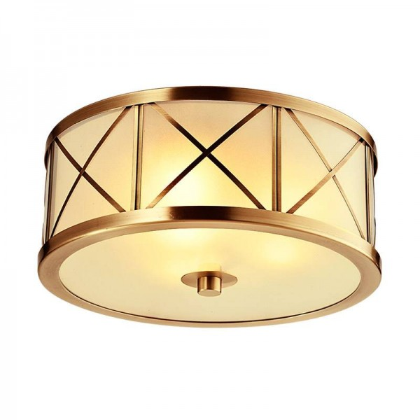 Europa Echte messing körper deckenleuchten Nordic glas lampenschirm led lampe für zu hause Shop Luxus foyer dekoration leuchte