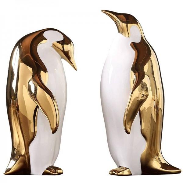 Goldene Keramik Pinguin Ornamente Startseite Modell Zimmer Wohnzimmer TV-Schrank Weinschrank Büro Dekoration Geschenke