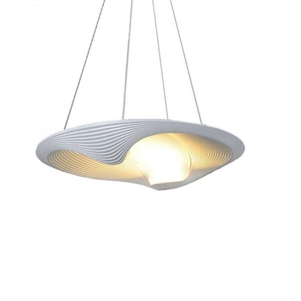Italien kreative single head led pendelleuchten weiß shell lampenschirm hängelampe esszimmer foyer schlafzimmer hotel deco beleuchtung
