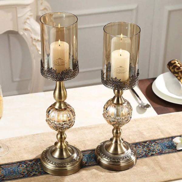 Luxus Metall Kerzenhalter Dekoration Tisch Modell Zimmer Weiche Dekorationen Ornamente Europäischen Candlelight Dinner Requisiten