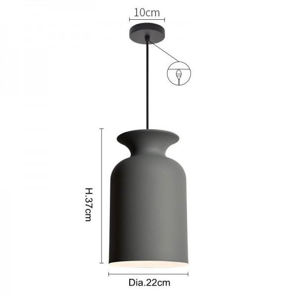 Moderne kurze pendelleuchten macaron bunte einzelköpfe schlafzimmer esszimmer foyer led droplight aluminium lampenschirm e27 birne