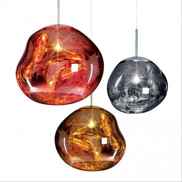Moderne Kupfer Magic Lava Pendelleuchten Tom Dixon Melt Glass Transparente Pendelleuchte Klassische Originalität Hängelampe Salonlampe