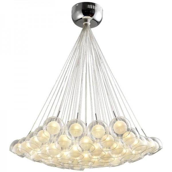 Moderne glas led pendelleuchten klar für wohnzimmer esszimmer schlafzimmer dekoration chromglas g4 ac220v hängelampe leuchte