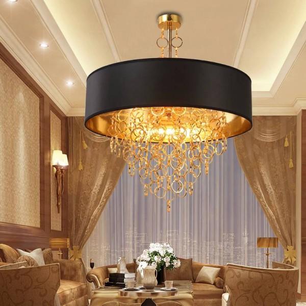 Moderne led pendelleuchte dia.60cm aluminium kreis luxuriöse hanglamp 4 stück e14 5w led lampe suspension leuchte mode