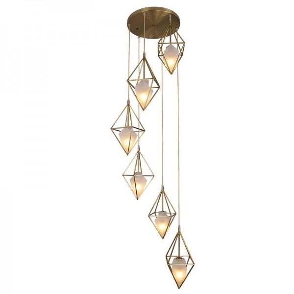 Moderne einfache volle kupfer pendelleuchte 1/3 kopf schlafzimmer esszimmer studie wohnzimmer hängen lampe luxus home droplight 3 watt e14 birne