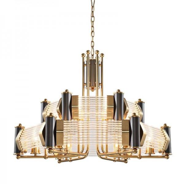 Neues klassisches Wohnzimmerleuchterpostmodernes Landhaus, das Schlafzimmerlichtdesigner kreatives amerikanisches Kristallglas droplight speist