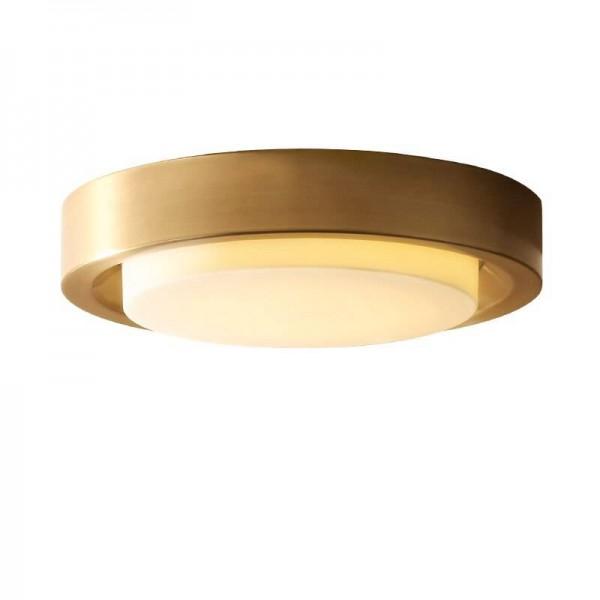 Nordic alle Kupfer Gold Deckenleuchten amerikanischen Stil Leuchte für zu Hause Shop Luxus Foyer Dekoration LED Deckenleuchten