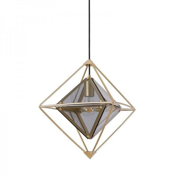 Nordic Post Modern Diamonds Pendelleuchten Foyer Schlafzimmer Couture Dekoration LED Hängelampe Eisenkörper Glas Lampenschirm Droplight