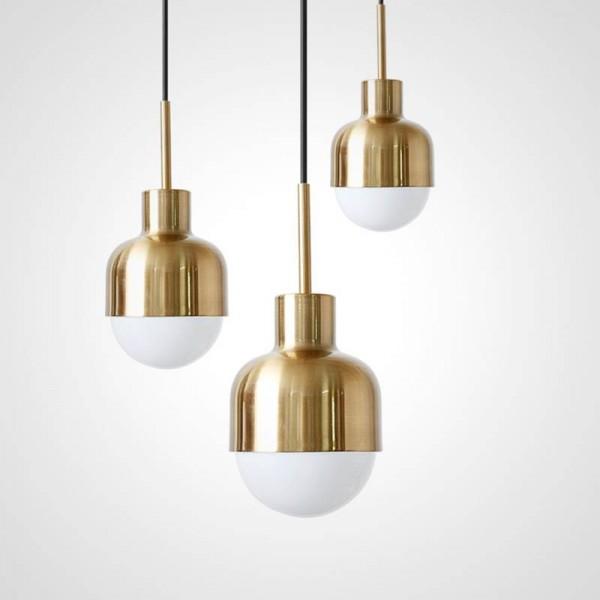 Nordic einfache kreative mode restaurant bar pendelleuchten moderne studie echt kupfer nacht led droplight e27 led lampe leuchte