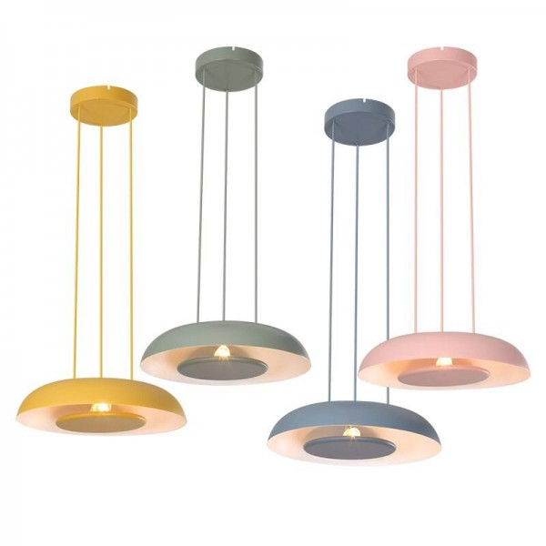 Nordic Single Head Pendelleuchten Macarons postmodernen minimalistischen kreative Foyer Lampe kreative bunte LED Eisen Kunst Droplight