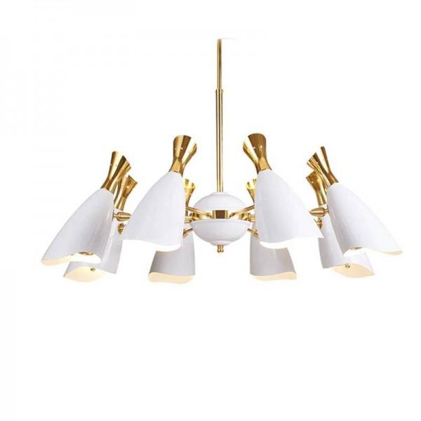 Post Modern 8 Kopf Kronleuchter Lampe Entenschnabel Suspension E27 G9 3W Lampe weiß schwarz für Wohnzimmer Licht Esszimmer Licht
