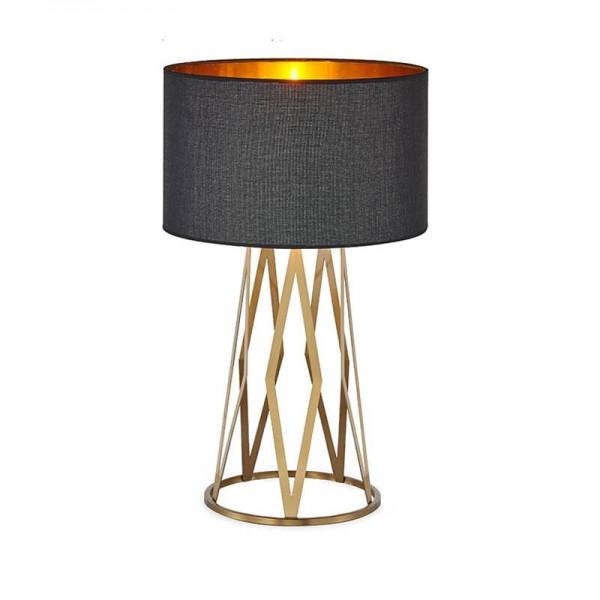 Postmoderne tischlampe luxus leselampe studie licht gold schlafzimmer licht lampenschirm hause beleuchtung led nordic lampe tisch e27 birne