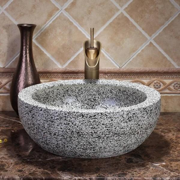 Lavabo Europa.Art Bowl Badezimmer Garderobe Handgefertigt Europa Vintage Keramik Lavabo Waschbecken Waschbecken Schussel