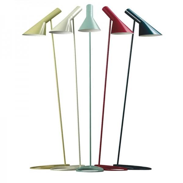 Einfache bunte Stehlampe Standlicht E27 LED Energiesparende Metall weiß schwarz gelb bunte Stehlampe für Wohnzimmer