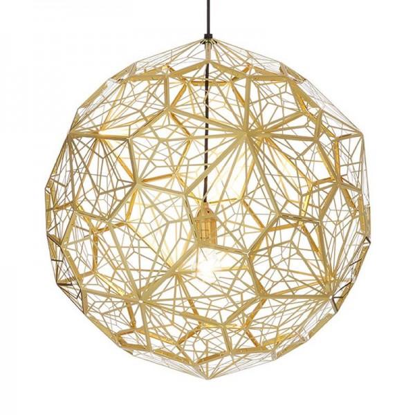 Edelstahl LED Pendelleuchte Radierung Kung 50cm Chrom Gold Tropfen Licht Ball Foyer Esszimmer Cafe Hotel Leuchte E27 Lampe