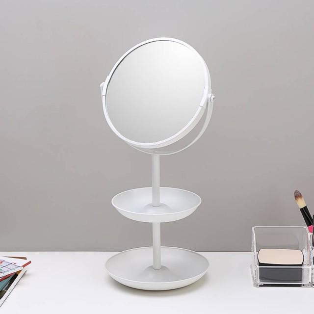6,5-Zoll-einfache doppelseitige Spiegel Kosmetikspiegel Schminktisch Spiegel Desktop Double-Layer-Speicher dekorativen Spiegel wx8161509