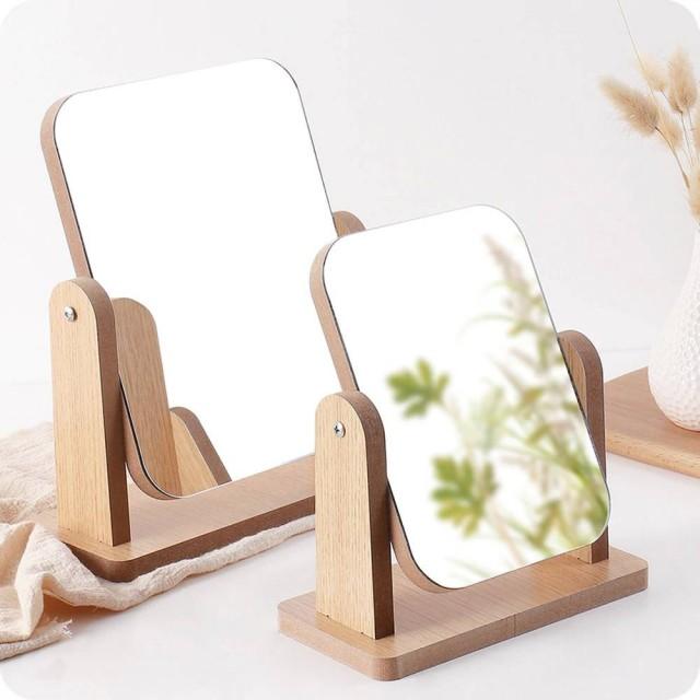 A1 Holz Make-up Spiegel Desktop Kosmetikspiegel Schlafzimmer Schönheit Prinzessin Spiegel tragbare Desktop-Spiegel wx8291750