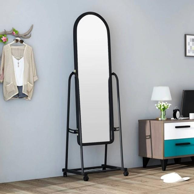 Ankleidespiegel Schlafzimmer in voller Länge Bekleidungsgeschäft großen passenden Spiegel nach Hause mobilen Boden einfachen Ankleidespiegel wx8241341