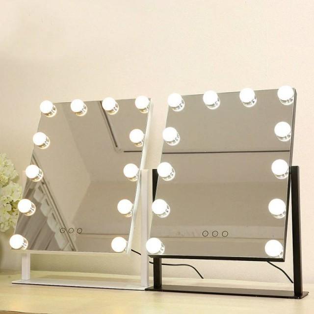LED Make-up Spiegel Mädchen weiß Desktop großen Kosmetikspiegel mit Licht Touch füllen Licht Schlafsaal Kosmetikspiegel mx01111356