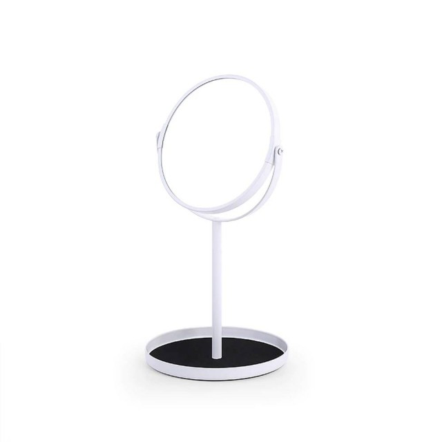 Schminkspiegel Desktop einfache Double Face Spiegel vergrößern 6,5 Zoll Schminktisch Spiegel mit Schmuck Aufbewahrungsbasis wx8161502