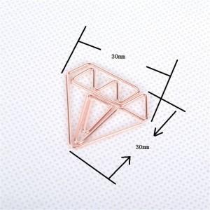 10 Stück Nordic Office Plating Diamant-Aufbewahrungsclip Chic Ins Schmiedeeisen Gold Mini Dokument Lesezeichen Aufbewahrungsclip Verschlussklammer