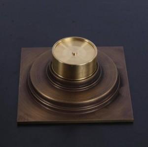 10x10 cm Messing Antike Gebürstet Bodenablauf Bad Küche Dusche Roon Veranda Platz Bodenablauf Rost Sanitär XSQ1-20