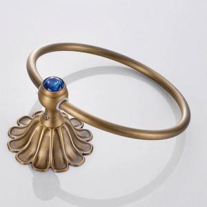 12-Blütenblätter-Serie Antik / Gold / Schwarz / Rose Messing Handtuchring Wandmontage Handtuchhalter