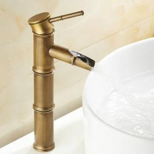 """12 """"Antique Brass Banboo Armaturen Kran Bad Wasserhahn Mischbatterie Waschbecken Becken 9036A"""