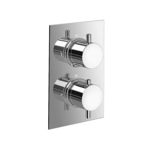 """12 """"Ultra Thin Runden Mischer Thermostat Duschkopf Set Badezimmer Ventil Set Chrom Hand Kopf"""