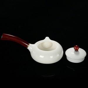 180 ml Edle Teekanne Keramik Jade Porzellan Holzgriff Topf Exquisite Kaffee Milch Wasserkocher Kung Fu Tee-Set Drink Decor