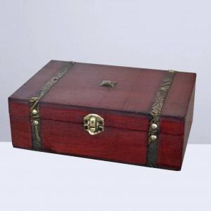 1 stück Vintage Schmuckschatulle Retro Holz Geschenkbox Holz Schatzkiste Holz Schmuckschatulle ohne Schloss