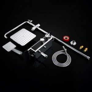 1 SATZ Digitale Temperaturanzeige Bad Duscharmaturen Set Bad Mischer Dusche Badewanne Wasserhahn Regendusche Wandmischer 877017