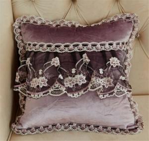 Samt Luxus Sofa Kissenbezug Runde Spitze Quaste um Bett Hause Auto Stuhl Modell Raum Ornament