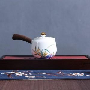 210 ml Kreative Griff Teekanne Handgemaltes Weißes Porzellan Teegeschirr Trinkgeschirr Kung Fu Tee-Set Wasserkocher Milch Topf Dekor Handwerk