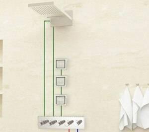 """2 Stück 4 """"Nachricht Duschkopf Seitensprühgerät in Wand drehbar-quadratisch / rund verstellbar"""