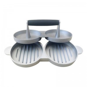 2 Slot DIY Kuchen Patty Maker Aluminium Antihaft Doppel Burger Presse Fleisch Rindfleisch Grill Home Küche BBQ Kochen Werkzeuge