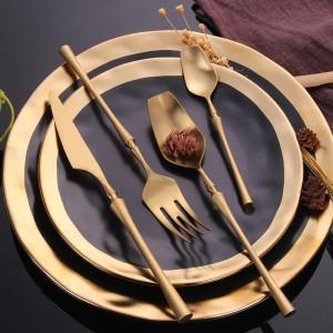 304 Edelstahl Besteck Gold Geschirr Set Western Food Besteck Geschirr Weihnachtsgeschenk Drop Shipping