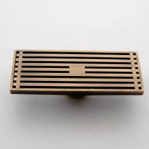 30 cm x 8 cm Rechteck Messing Antike Gebürstet Carvd Ablauf Badablauf Küche Duschbad Veranda Abfall Sieb Bodenablauf