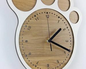 33 * 30 cm Einfache kunst kreative uhr Füße uhren wanduhr wohnzimmer schlafzimmer stille uhren Wanddekoration