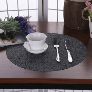 38 CM Runde Transparente Kristall Kinder Tischsets EVA Rutschfeste Kunststoff Tischset Kreis Untersetzer Westlichen stil Essen Tischset
