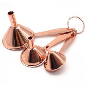 3 Teile / satz Tragbare Küchentrichter mit Griff Edelstahl Einmachglas Öl Honig Trichter für Kleine Große Flasche Container Verwenden