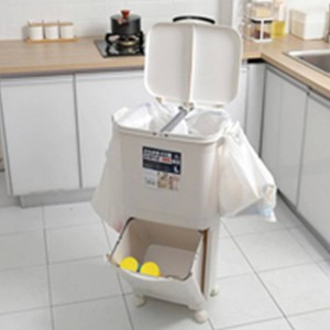 Abfall-Mülleimer der Klassifizierungs-45L Abfall-Mülleimer-pp. Für Küche Hochleistungs-Doppelstock-Mülleimer-Abfalleimer