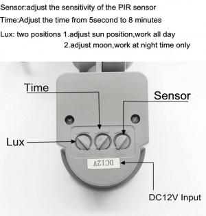 4 stücke 12 v pir 10 watt led flutlicht wasserdicht scheinwerfer garage sicherheit motion sensor zeit lux einstellbar