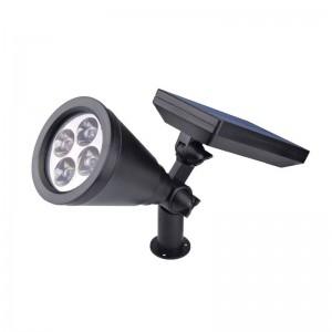 4 STÜCKE Solarbetriebene LED gartenlampe Sicherheit Spot Licht warmweiß Wasserdichte Outdoor hauptdekoration scheinwerfer